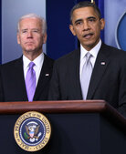 "Vice President Biden and President Obama at the White House on Dec. 19. Biden has been charged with drawing up ""concrete proposals"" on how to reduce gun violence."