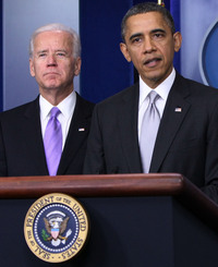 Vice President Biden and President Obama at the White House on Dec. 19. Biden has been charged with drawing up