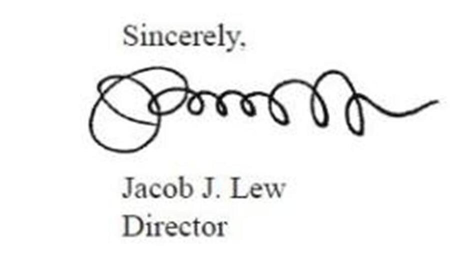 "Jacob ""Jack"" Lew's signature, on the 2012 ""Mid-Session Review"" of the federal budget. He was director of the Office of Management and Budget at the time. (WhiteHouse.gov)"