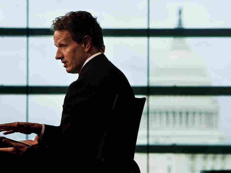 U.S. Treasury Secretary Tim Geithner speaks during the Washington Ideas Forum at the Newseum on Sept. 30, 2010, in Washington, D.C.