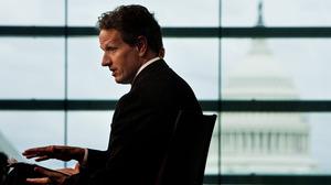 U.S. Treasury Secretary Tim Geithner speaks during the Washington Ideas Forum at the Newseum on Sept. 30, 2010, in Washington, D.C.