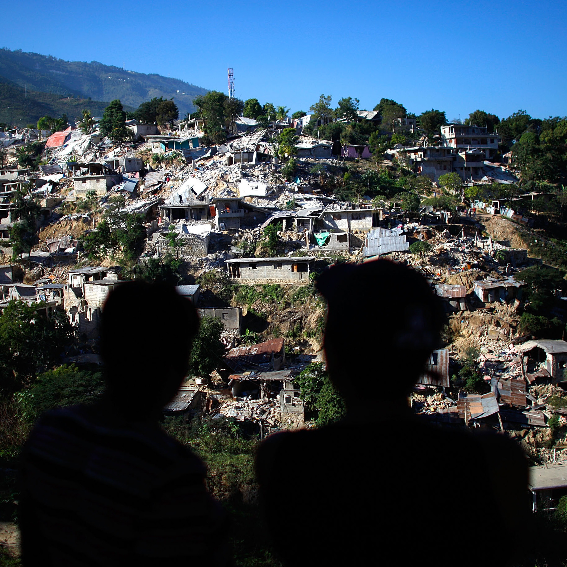 A neighborhood near downtown Port-au-Prince, Haiti, Jan. 15, 2010.