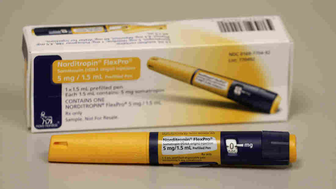Major League baseball will begin random regular-season blood tests for human growth hormone, seen here in an injector pen holding about one week's worth of HGH doses at the clinic of Dr. Mark Molitch of Northwestern University.