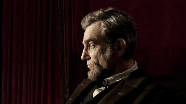 Daniel Day-Lewis, in the lead role of Lincoln.