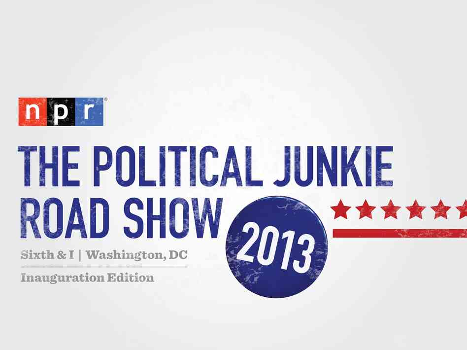 The Political Junkie Road Show, 2013 logo.