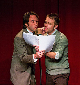 Mike Phirman and Chris Hardwick perform in The Thrilling Adventure Hour.