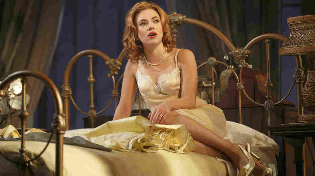 In Rob Ashford's new production of the classic play Cat on a Hot Tin Roof, Scarlett Johansson plays an earthier version of restless sex kitten Maggie.