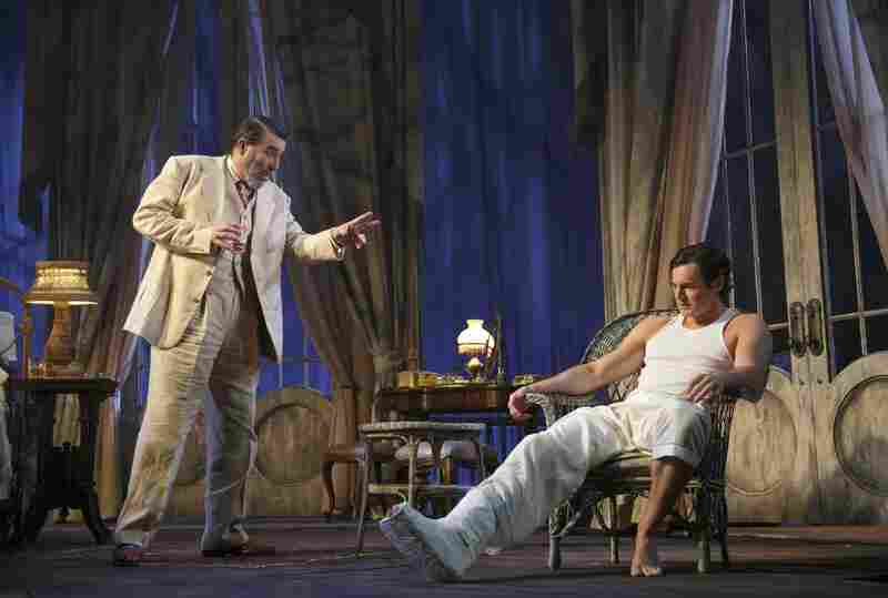 Ciaran Hinds (left) is Big Daddy to Benjamin Walker's Brick in the latest revival of Tennessee Williams' play.