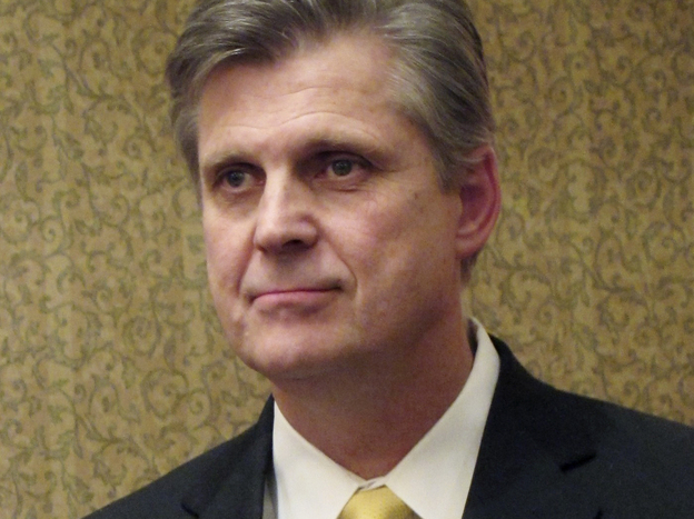 Former Rep. Todd Tiahrt, shown in Kansas in 2011, added language to the Justice Department's annual spending bill in 2003 that has put limits on the sharing of government gun records. (AP)