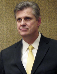 Former Rep. Todd Tiahrt, shown in Kansas in 2011, added language to the Justice Department's annual spending bill in 2003 that has put limits on the sharing of government gun records.