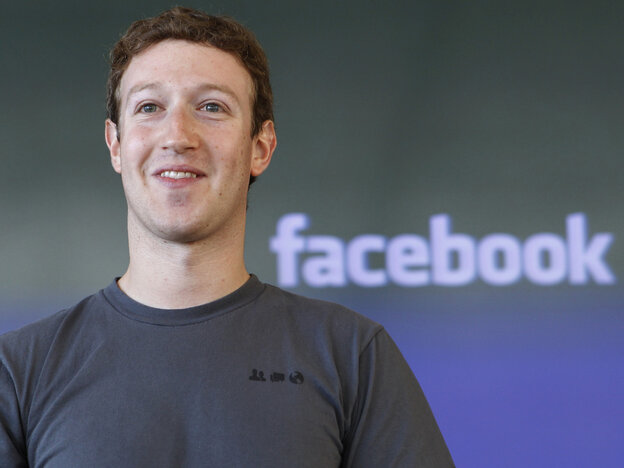 Why Is Facebook CEO Mark Zuckerberg Smiling? Maybe because someone might be willing to pay $100 to send him a message.