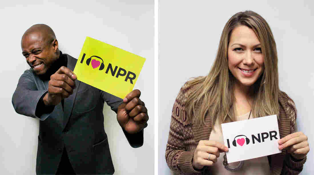 KEM and Colbie Caillat at NPR headquarters in Washington, D.C.