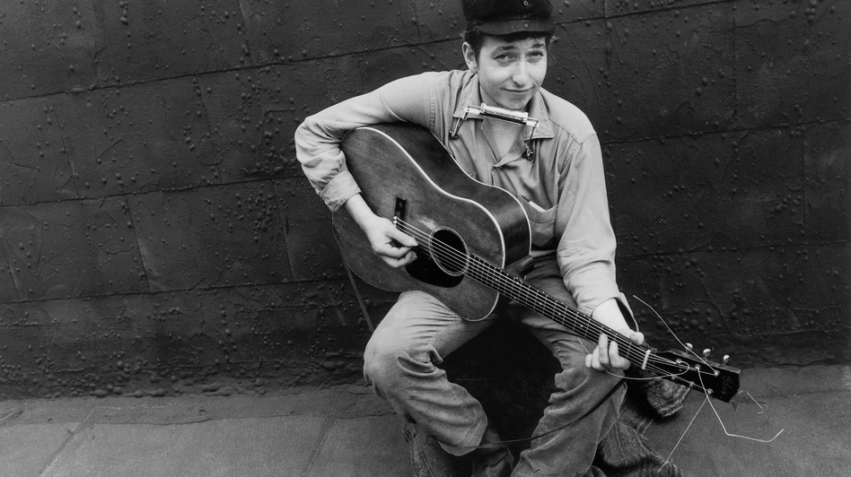 Bob Dylan in 1962. His extremely limited-edition <em>50th Anniversary Collection</em> features unreleased material from his early career.