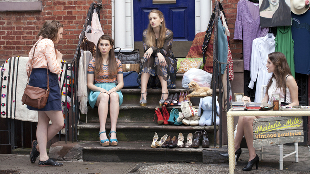 Lena Dunham's series Girls, which follows the lives of a group of young women in New York City, returns to HBO this month. (HBO)