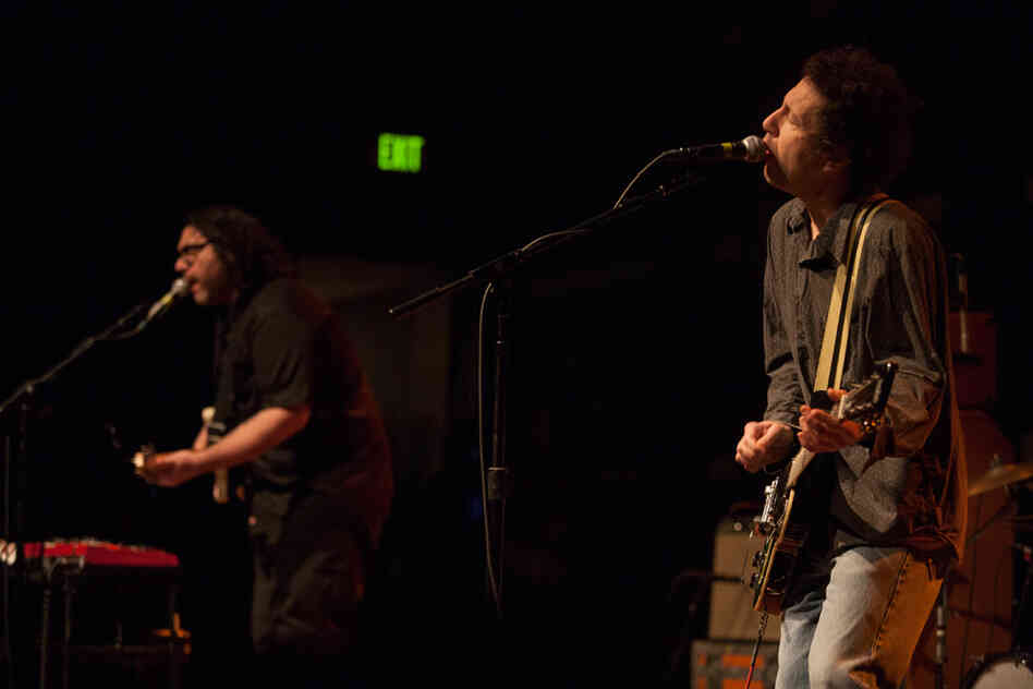 Kaplan and Yo La Tengo bassist James McNew (left) have been making music together since 1992.