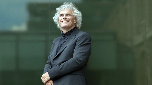 Conductor Simon Rattle, who has reportedly told the Berlin Philharmonic he will leave his post there in 2018.
