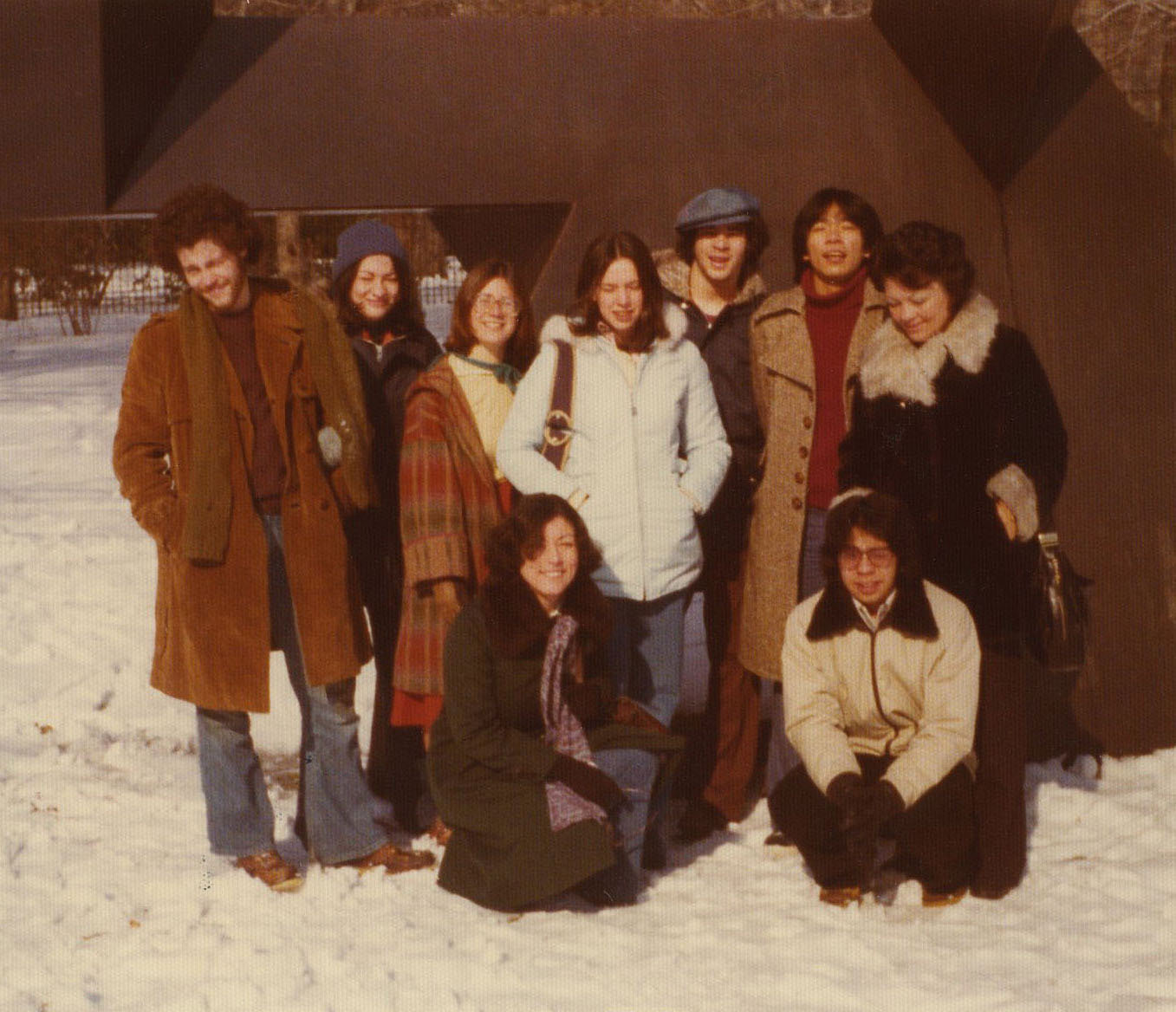 Sotomayor (second from left) poses with her husband, Kevin Noonan (to her left), and friends at Princeton University. The future Supreme Court justice graduated from Princeton in 1976 with a bachelor's degree in history.