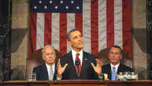 President Obama, Vice President Biden (at left) and House speaker John Boehner at the 2012 State of the Union address.