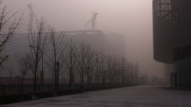The air quality in Beijing registered at hazardous levels on Saturday, beyond the index used to chart it. (NPR)