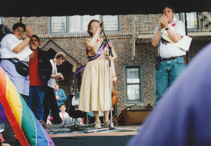 Manford was the grand marshal of the pride parade in Queens.