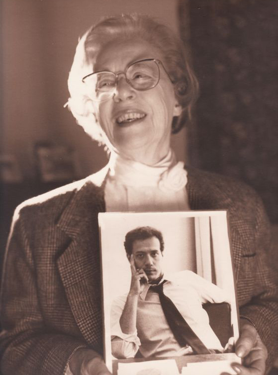 Jeanne Manford, founder of the national support group Parents, Families and Friends of Lesbians and Gays, or PFLAG, holds a photo of her son, Morty, circa 1993. Manford died Tuesday at 92. (PFLAG National)
