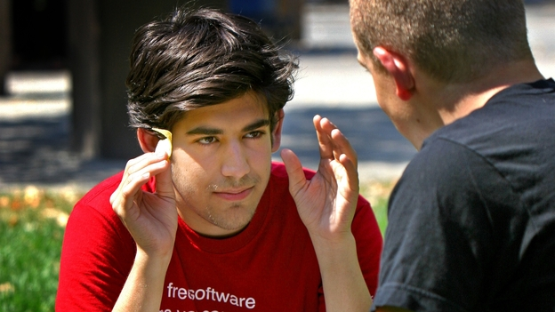 Aaron Swartz co-authored RSS and founded the company that later became the social media website Reddit. (Boston Globe via Getty Images)