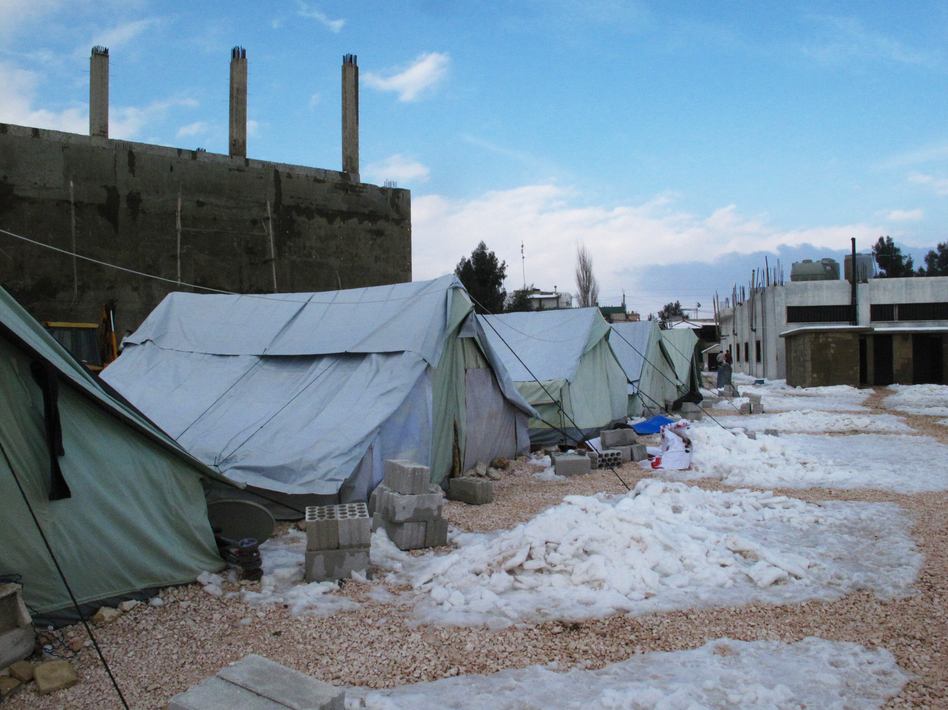 Some of the worst winter weather in decades is making life even more difficult for the residents of the al-Marj refugee camp. Some Syrians who fled violence and shelling say after living in such harsh conditions, they wish they could go back.