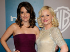Seen here in January 2012, Tina Fey and Amy Poehler are the hosts of Sunday night's Golden Globes.