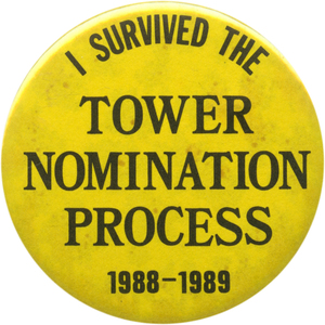 John Tower, Bush Sr.'s choice for Defense in 1989, is the only Cabinet nominee defeated in a Senate vote in the past half-century.