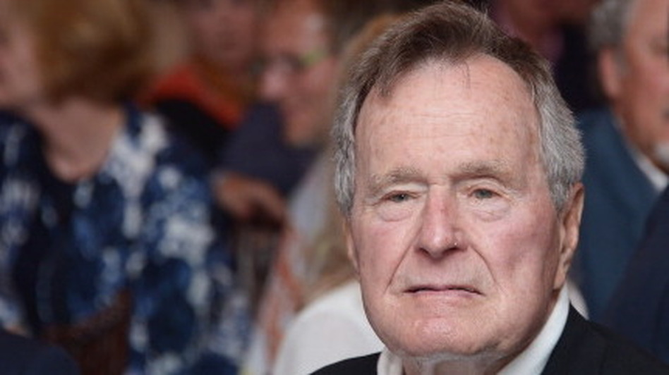 Former President George H.W. Bush in June. (Getty Images for HBO)