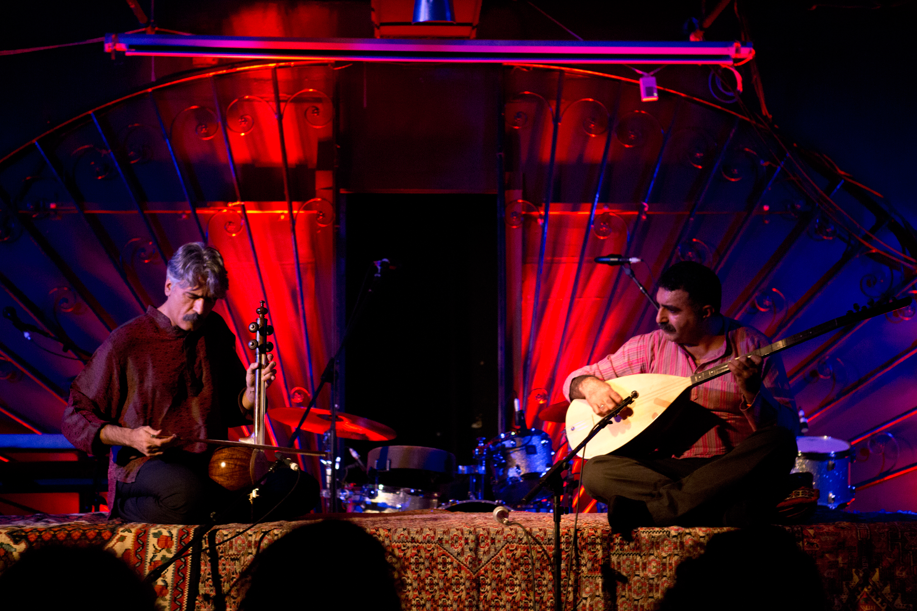 Persian virtuoso Kayhan Kalhor and Turkish master artist Erdal Erzincan teamed up for a beautiful performance on the Marlin Room stage. While it wasn't the first time they played together, their unique melding of talents led to a mesmerizing performance filled with flowing improvisations.
