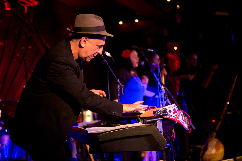 Lo'Jo, comprised of keyboardist-singer Denis Péan and violinist Richard Bourreau, performed tracks filled with both North African and French folk influences. The combination of pounding keyboards and sleek violin created a rich and unique sound that filled the Marlin Room stage.