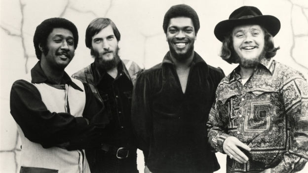 Today's World Cafe features interviews with Steve Cropper (second from left) and Booker T. Jones (third from left), both part of the Stax Records house band. (Courtesy of the artist)