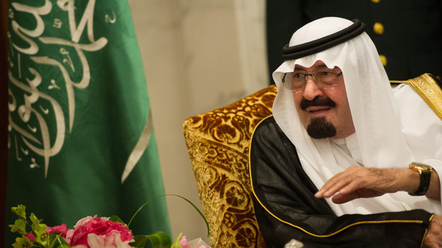 Saudi Arabia's King Abdullah, shown last November, has appointed women for the first time to a top advisory body. But in a country where the sexes are strictly segregated, the women will meet in a separate room from the men. (AFP/Getty Images)