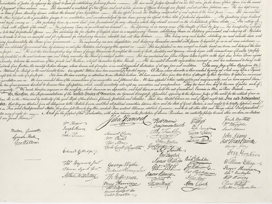 John Hancock's famously large signature is part of our visual heritage, but handwritten signatures are used less and less.
