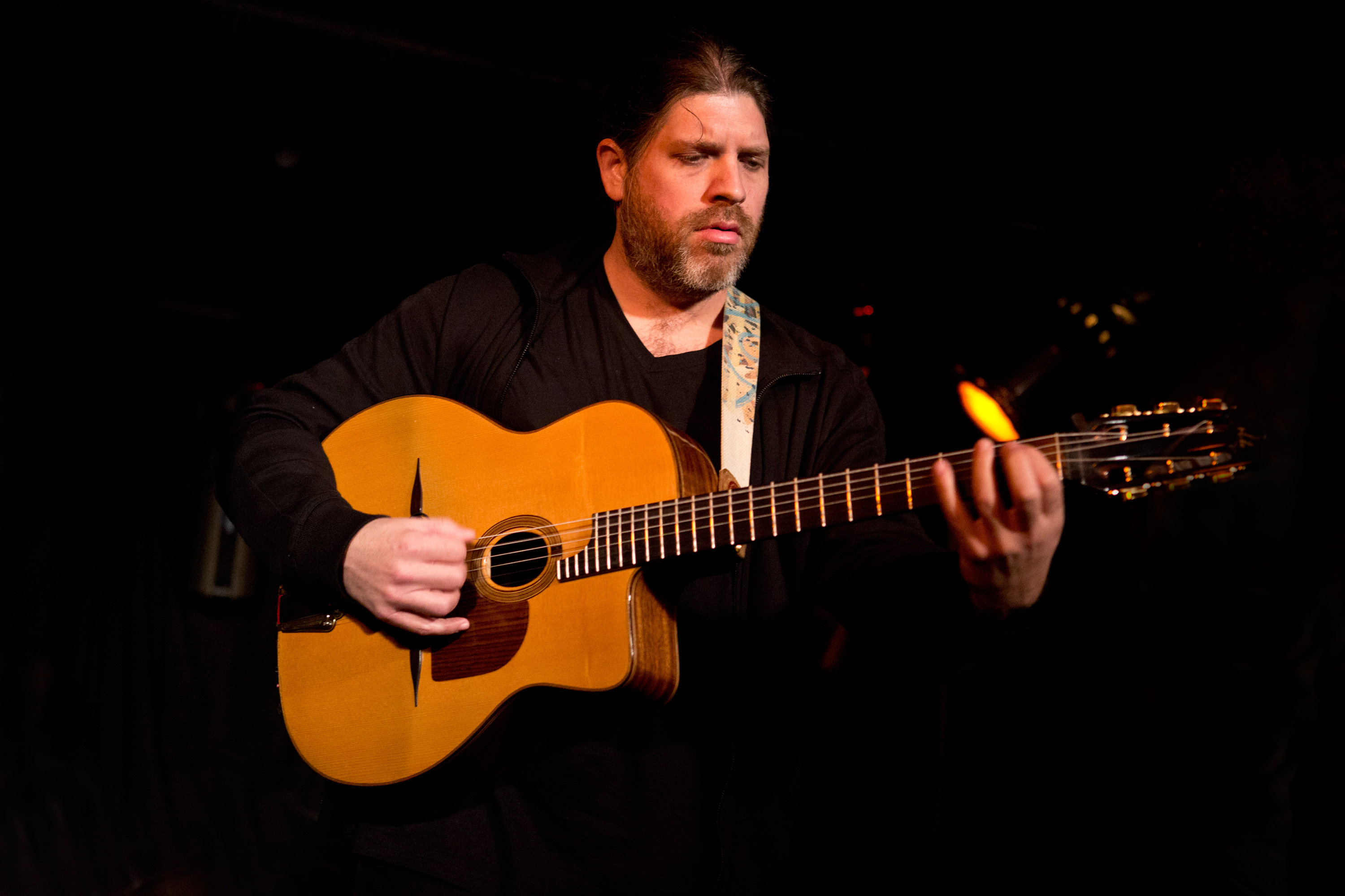 "Acclaimed French-born guitarist and composer Stephane Wrembel has appeared on the soundtracks of Woody Allen's Vicky Cristina Barcelona and Midnight In Paris. He dazzled the globalFEST crowds with his ""Gypsy Jazz"" guitar rhythms."