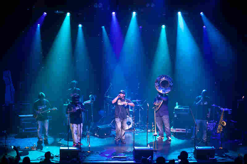 Since Hurricane Katrina in 2005, globalFEST has continued to feature artists from the Gulf Coast region. This year, The Stooges Brass Band represented the city of New Orleans with the group's second-line-meets-hip-hop sound.