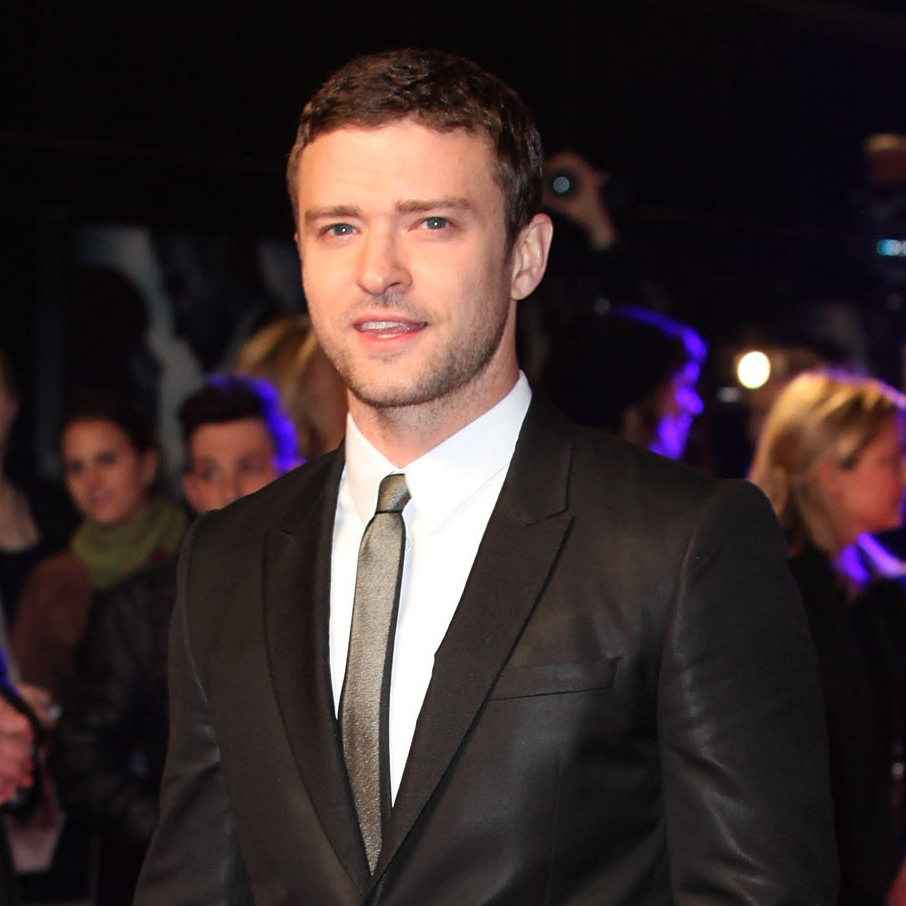 Justin Timberlake, suited up, on the red carpet in 2011.