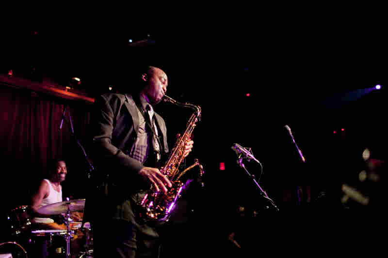 The ferocious saxophonist James Carter, who played with his organ trio, proved a crowd pleaser.