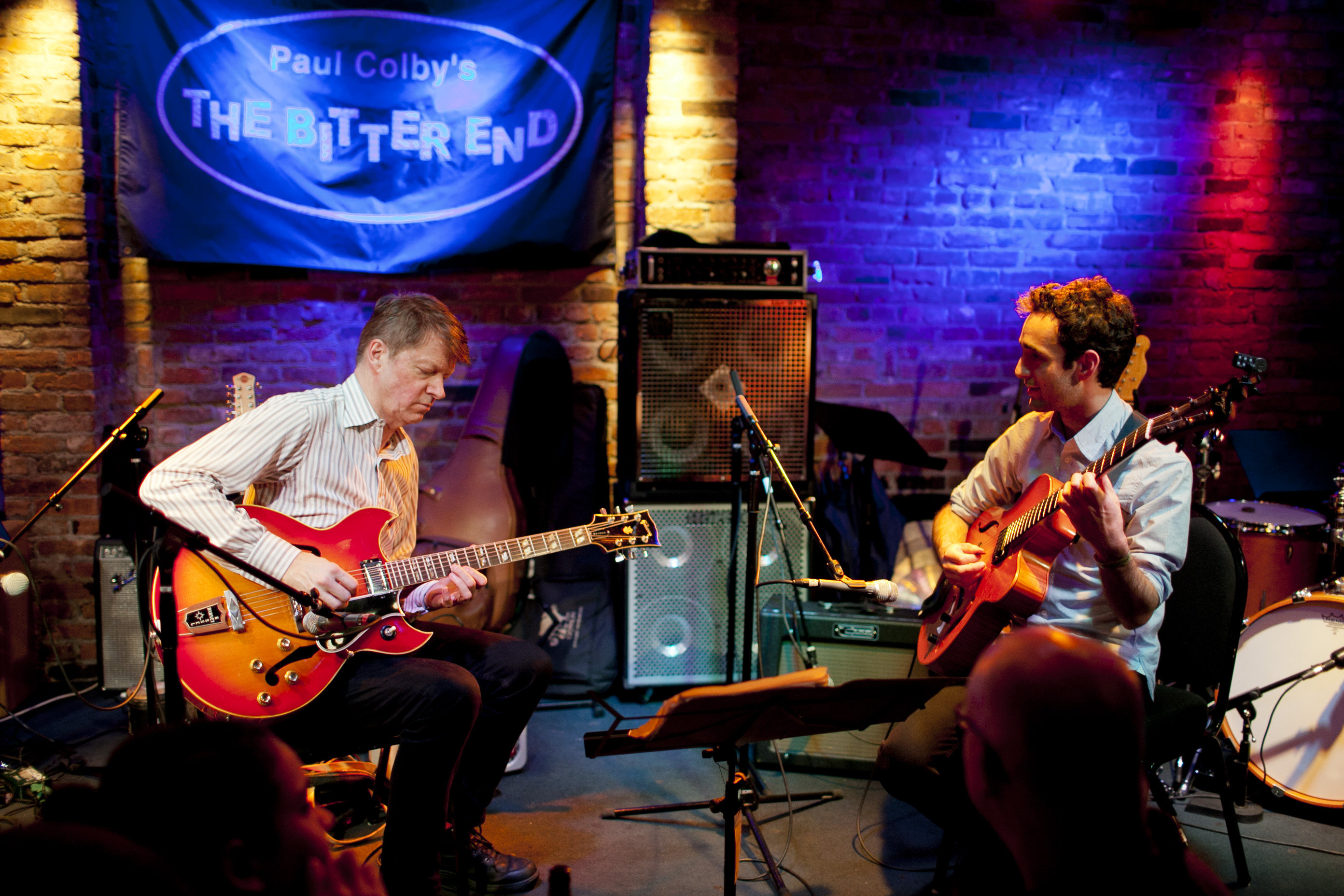 Guitar virtuosi Nels Cline (left) and Julian Lage played as a duet.