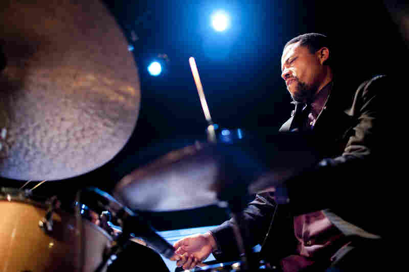 Drummer Nasheet Waits led a quartet in one of the best-attended sets of the festival.