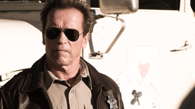 Sheriff Ray Owens (Arnold Schwarzenegger) faces off with vicious drug smugglers in <em>The Last Stand</em>.