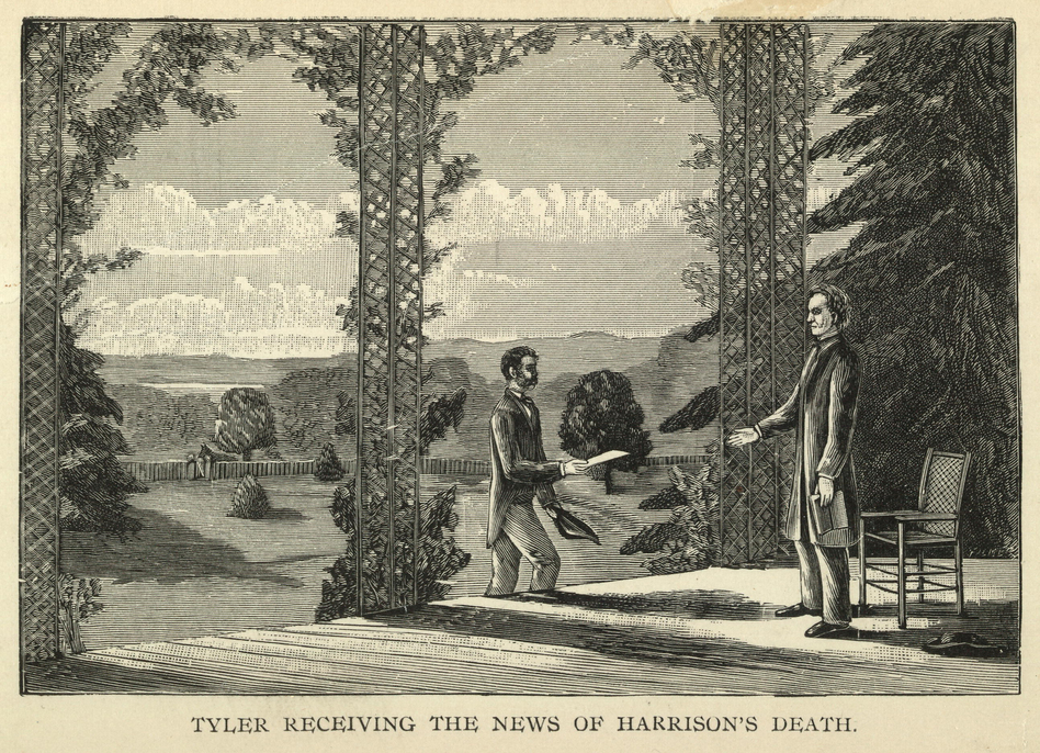 Following Harrison's death on April 4, 1841, John Tyler was the first vice president to assume the presidency by succession. (Courtesy of Library of Congress)
