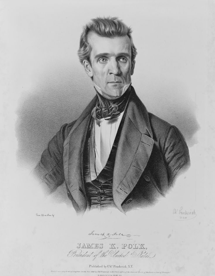 March 4, 1845: James Polk's inauguration was the first to be covered by telegraph.