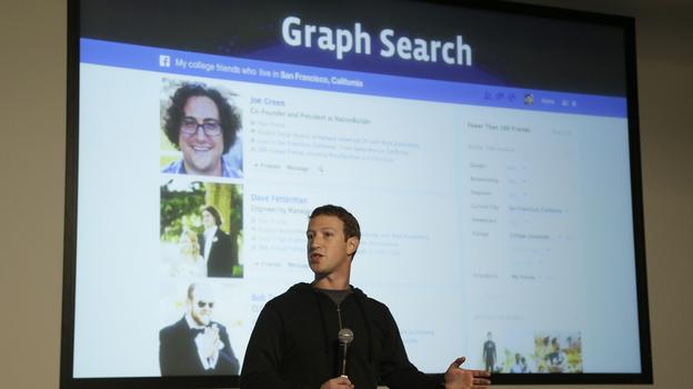 Facebook CEO Mark Zuckerberg speaks at Facebook headquarters in Menlo Park, Calif., on Tuesday. (AP)