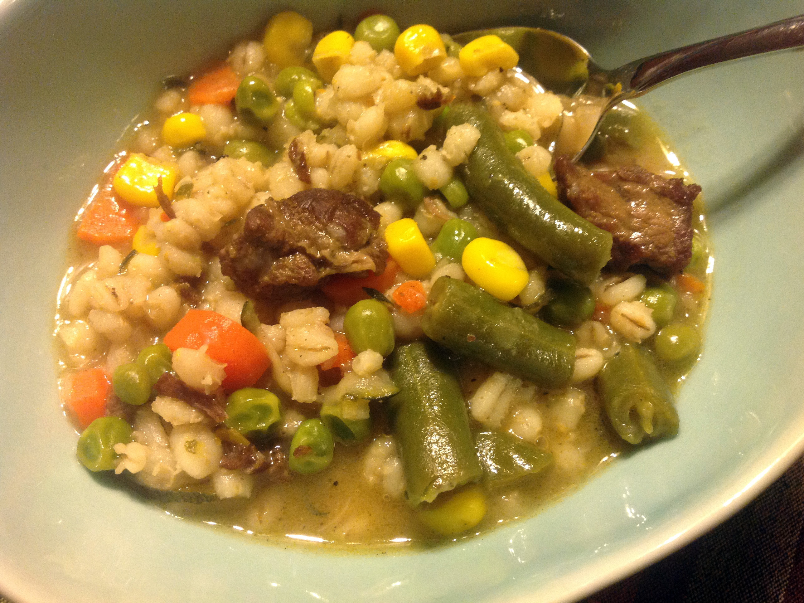 Mom's Beef And Barley Soup