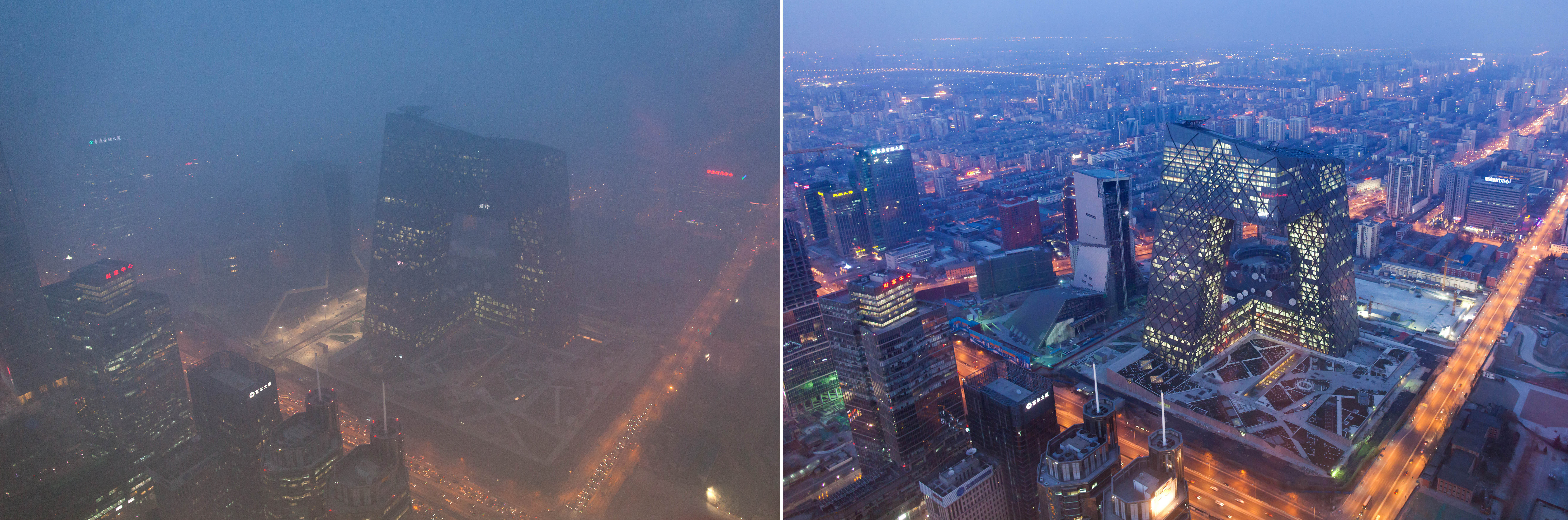 Beijing's Pollution, Seen From Space In Before And After Photos