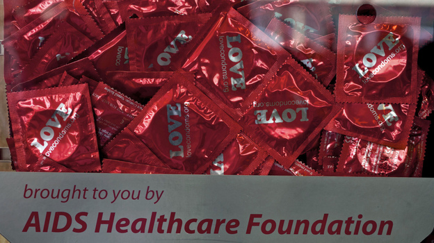 The Los Angeles-based AIDS Healthcare Foundation says a county law requiring condom use at porn shoots is necessary to protect actors from sexually transmitted diseases. (AP)