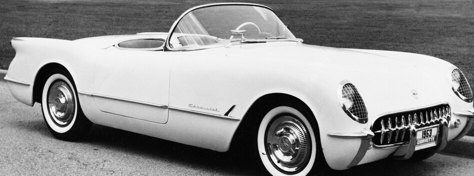 The first-generation Corvette was introduced in 1953, shown here. This year marks the brand's 60th birthday. (AP)