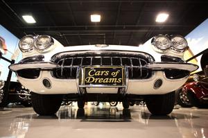 A 1957 Corvette Roadster sits in a North Palm Beach, Fla., private car museum on Nov. 26.